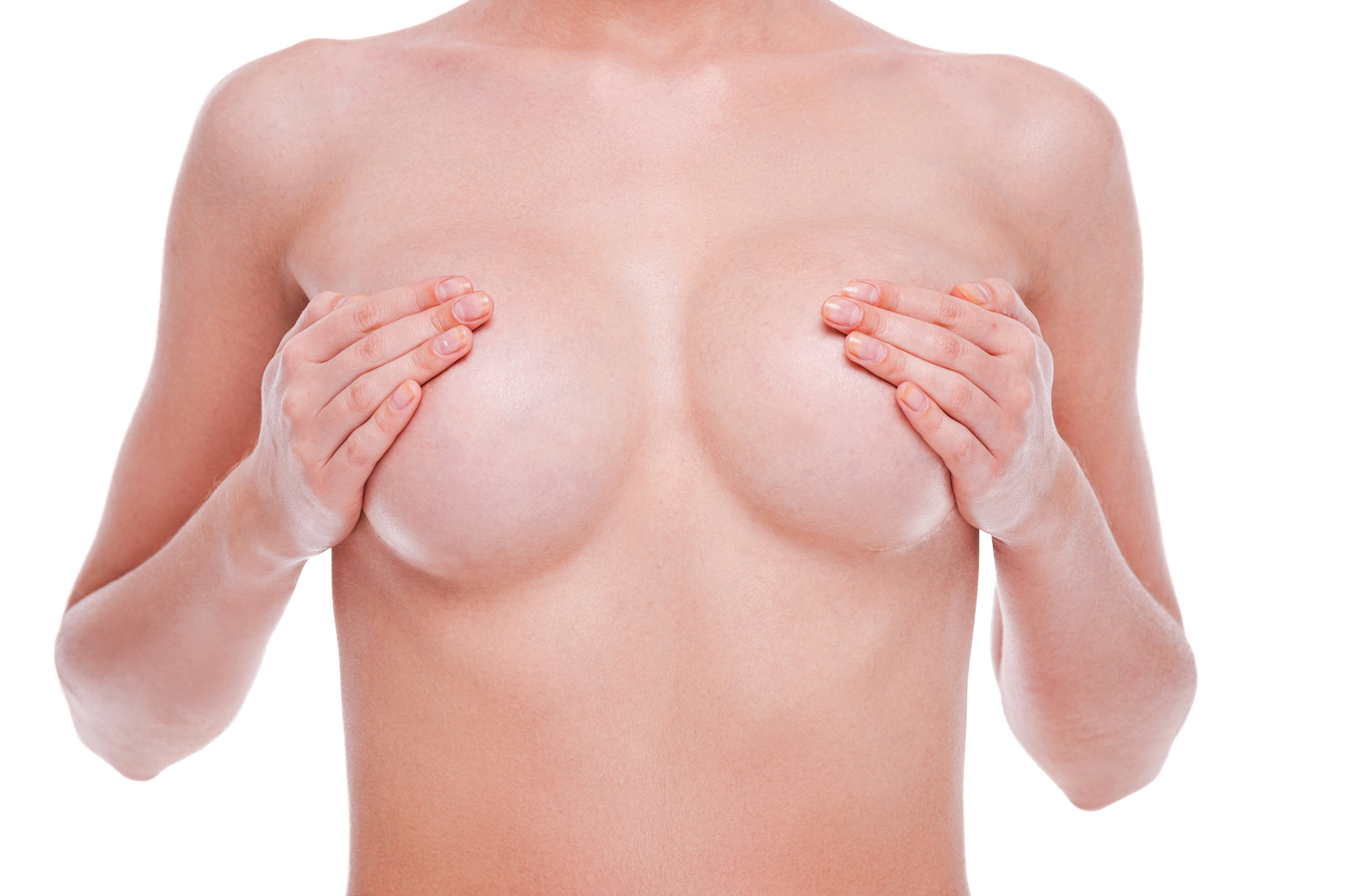 Secondary breast implant surgery